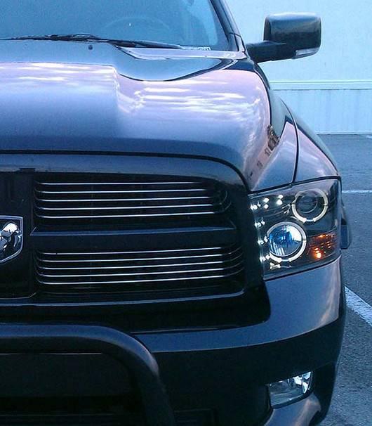 2012 Dodge Ram 1500 Headlights >> Dodge Ram 1500 2009-2012 + 2500/3500 2010-13 Recon Smoked ...