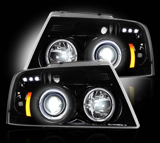 ford f 150 2004 08 recon smoked headlights tail lights third brak. Black Bedroom Furniture Sets. Home Design Ideas