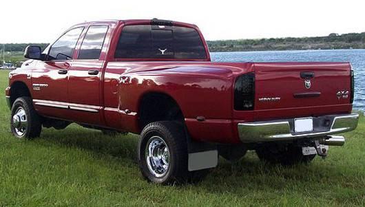 Fit 2007-2008 Dodge Ram 1500 07-09 2500//3500 Black Smoked LED Tail Lights Lamp
