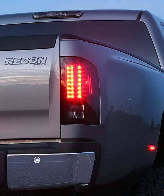 Chevrolet Silverado 2007 14 Recon Smoked Headlights W
