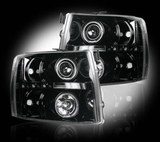 Chevrolet Silverado 2007 14 Recon Smoked Headlights W