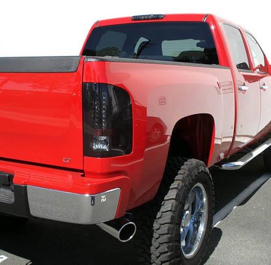 GMC Sierra 2007-14 Recon Smoked Headlights & Tail Lights ...