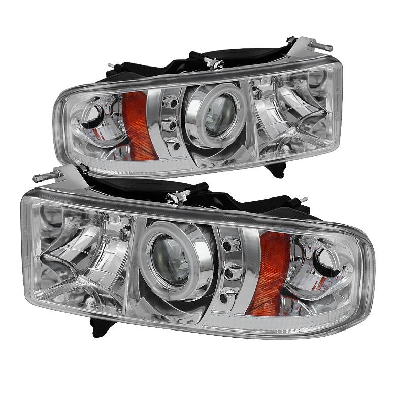 Halo Headlights For 01 Dodge Ram Spyder Dodge Ram 1500 99-01