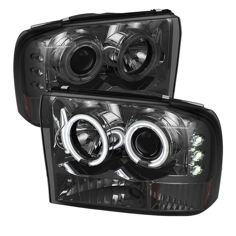 Spyder Smoke Ccfl Halo Projector Led Headlights 9904 Ford F250 0004 Excursion Dale's Super Store: Ford Excursion Headlight Wiring At Hrqsolutions.co
