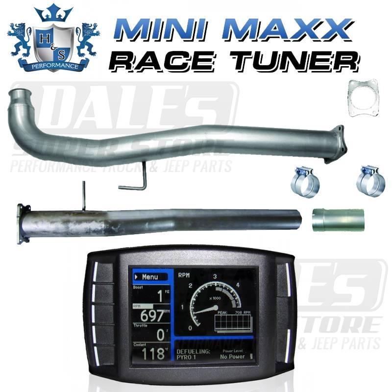 Premium H&S Mini Maxx Race Tuner & DPF/CAT Delete Pipes