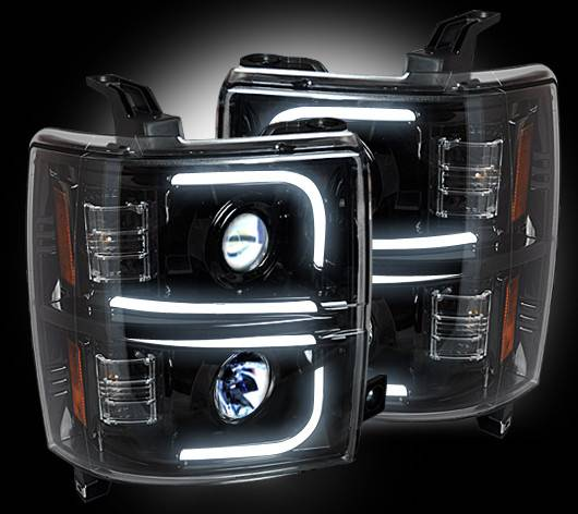 Recon 264275bkc Smoked Projector Headlights W Oled