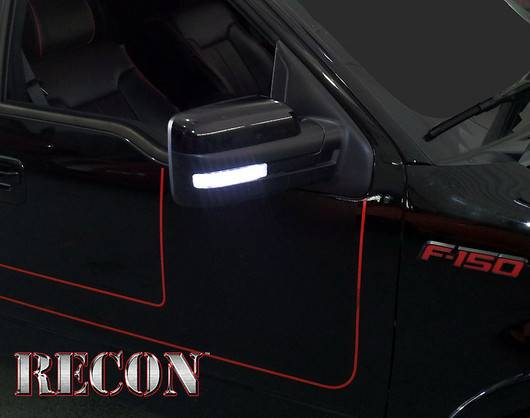 09 14 F 150 Recon White Led With Clear Lens Side Mirror