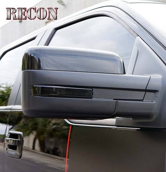 09 14 F 150 Recon White Led With Smoked Lens Side Mirror