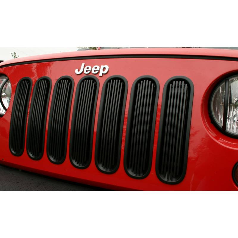 Jeep Wrangler Grill Inserts >> Rugged Ridge Billet Grille Insert Black 2007-2012 Jeep JK Wrangler