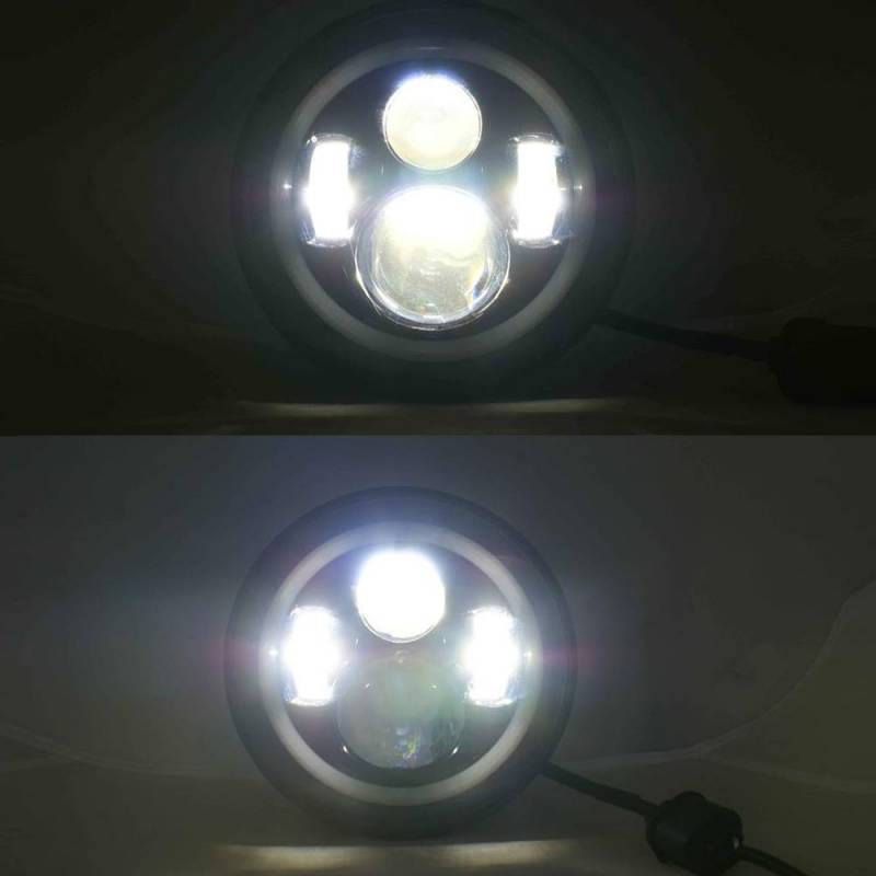 Outlaw Lights 7 Quot Round Led Headlights Ly 004by 97 15