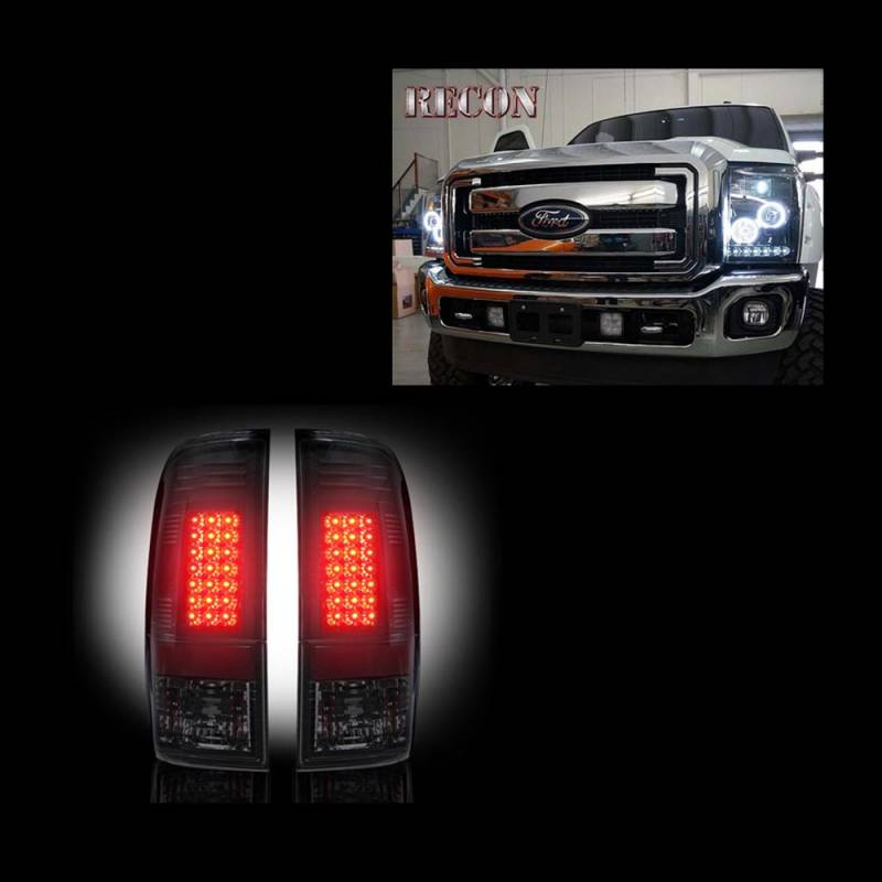 Smoked 2011-2016 Ford F250 F350 F450 Superduty Bumper Driving Lamps Fog Lights