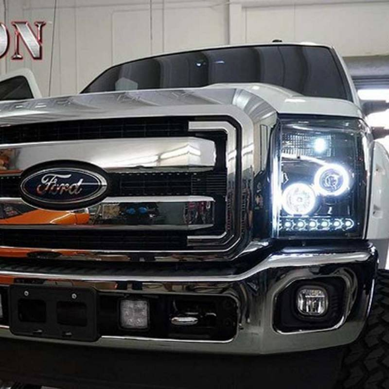 Recon Smoked Projector Headlights Amp Smoked Led Tail Lights