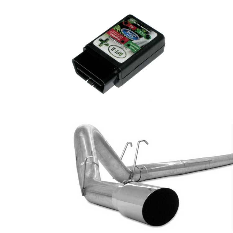 """GearBoxZ DPF-R PLUS Programmer & 4"""" Stainless Downpipe"""