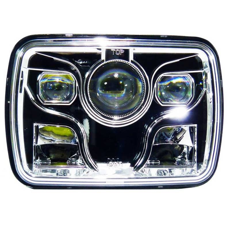 """2018 Jeep Grand Cherokee >> Outlaw Lights 5"""" x 7"""" Square LED Headlights with Sealed Beam 