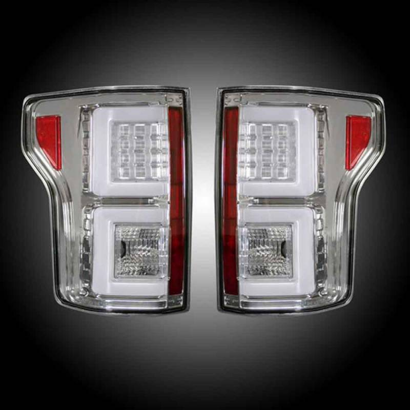 recon clear led tail lights 2015 2017 ford f150. Black Bedroom Furniture Sets. Home Design Ideas