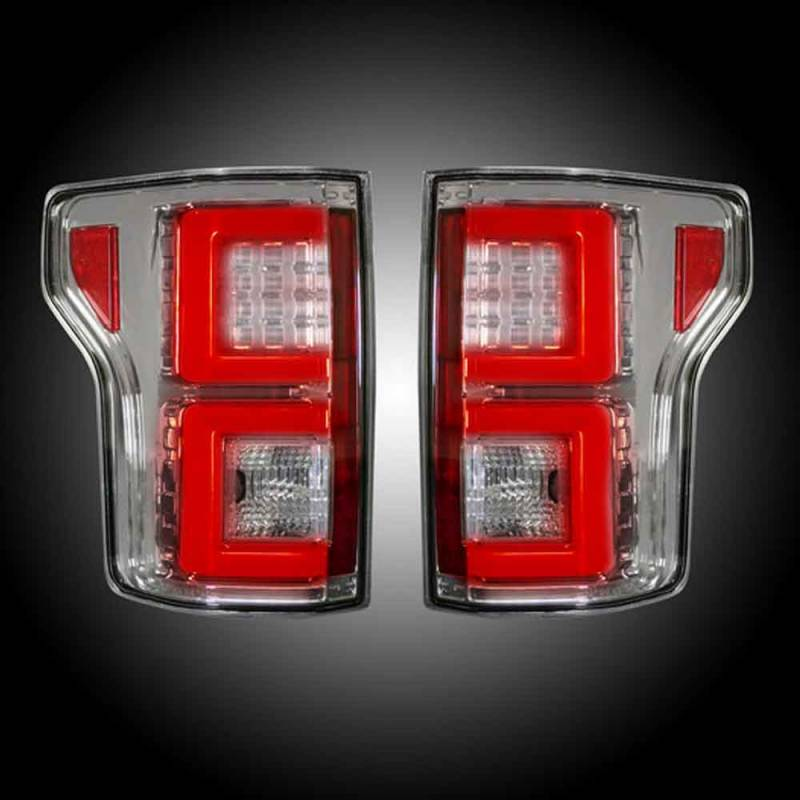 2015 F150 Recon Tail Lights >> RECON CLEAR LED Tail Lights | 2015-2017 Ford F150 | 264268CL | Dale's Super Store