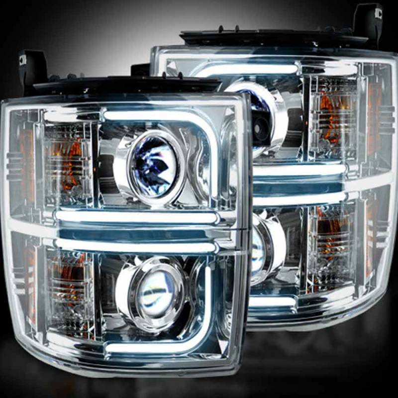 recon clear chrome projector headlights w ultra high power. Black Bedroom Furniture Sets. Home Design Ideas