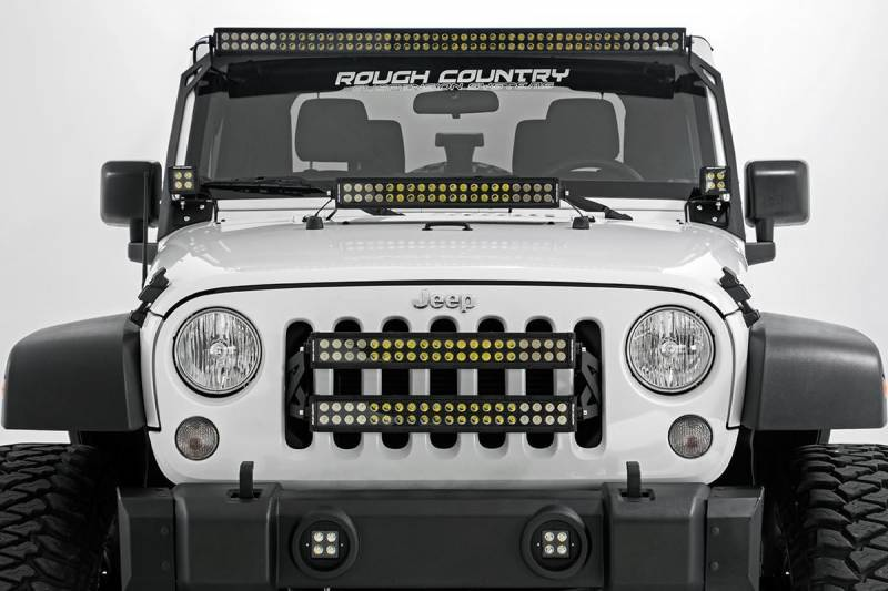 Rough Country 20 Inch Cree Led Light Bar Dual Row Black