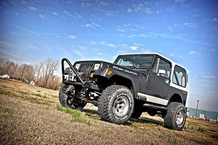 Rough Country 4 In Suspension Lift Kit for 1987-1995 Jeep ...
