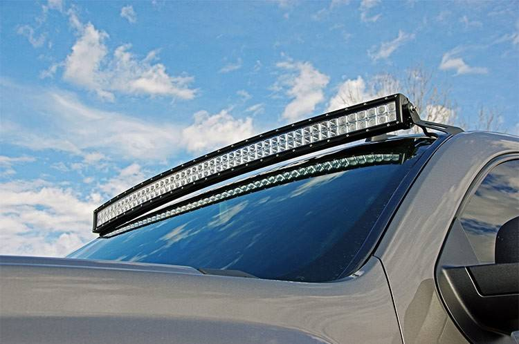 rough country 50-inch curved cree led light bar (dual row | chrome series)  | dale's super store
