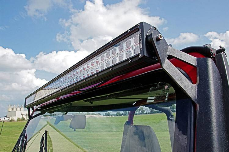 Rough country 50 inch straight led light bar upper windshield mounts aloadofball Gallery