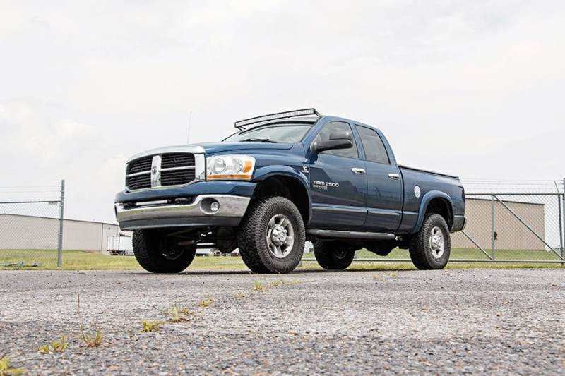 Rough country 54 inch curved led light bar upper windshield mounts rough country 54 inch curved led light bar upper windshield mounts 2003 2009 dodge ram 25003500 dales super store aloadofball Image collections