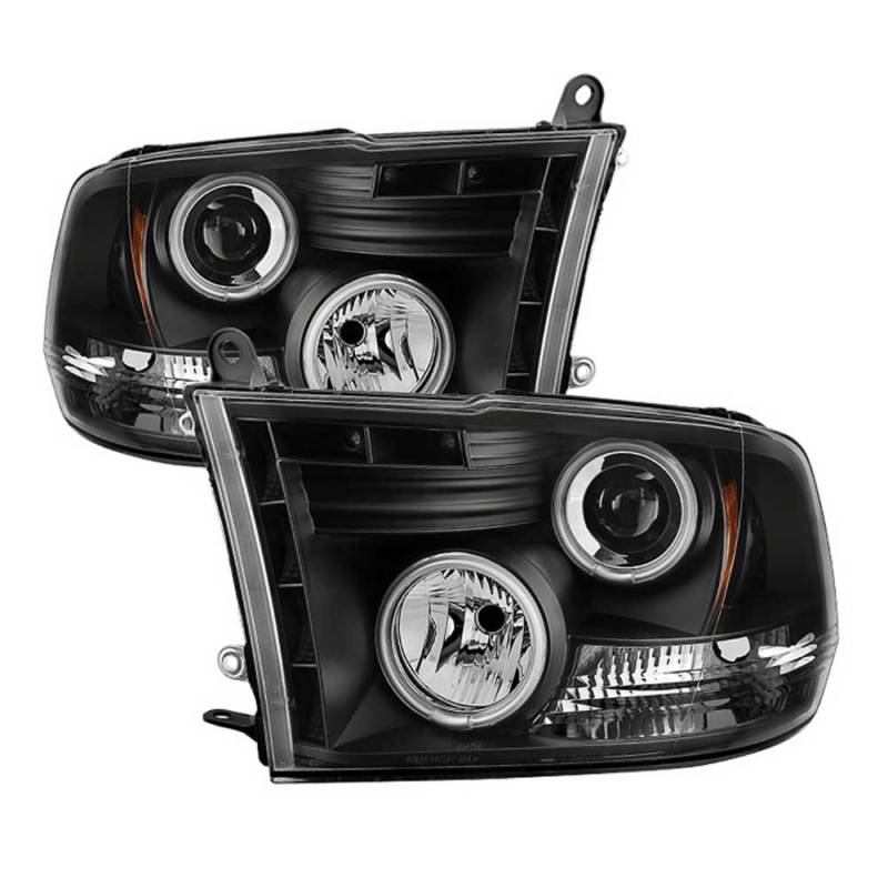 spyder black ccfl halo projector led headlights 2009. Black Bedroom Furniture Sets. Home Design Ideas