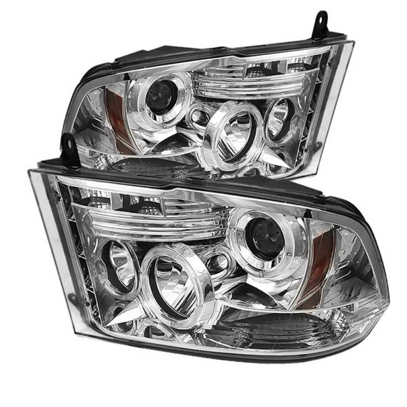 spyder chrome halo projector led headlights 2009 2016. Black Bedroom Furniture Sets. Home Design Ideas
