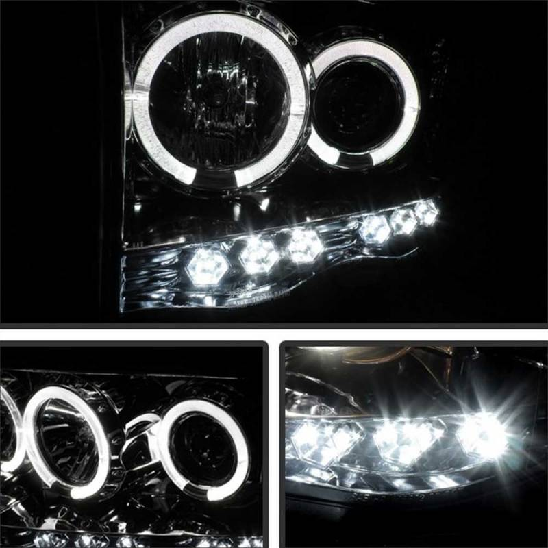 Spyder Chrome Halo Projector LED Headlights | 2002-2005