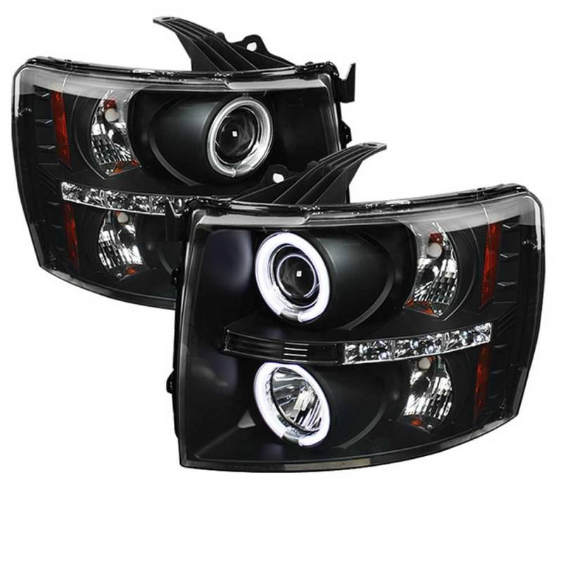 Spyder Black CCFL Halo Projector LED Headlights | 2007 ...