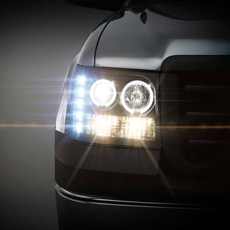 Spyder Black Halo Projector LED Headlights | 2007-2014 GMC ...
