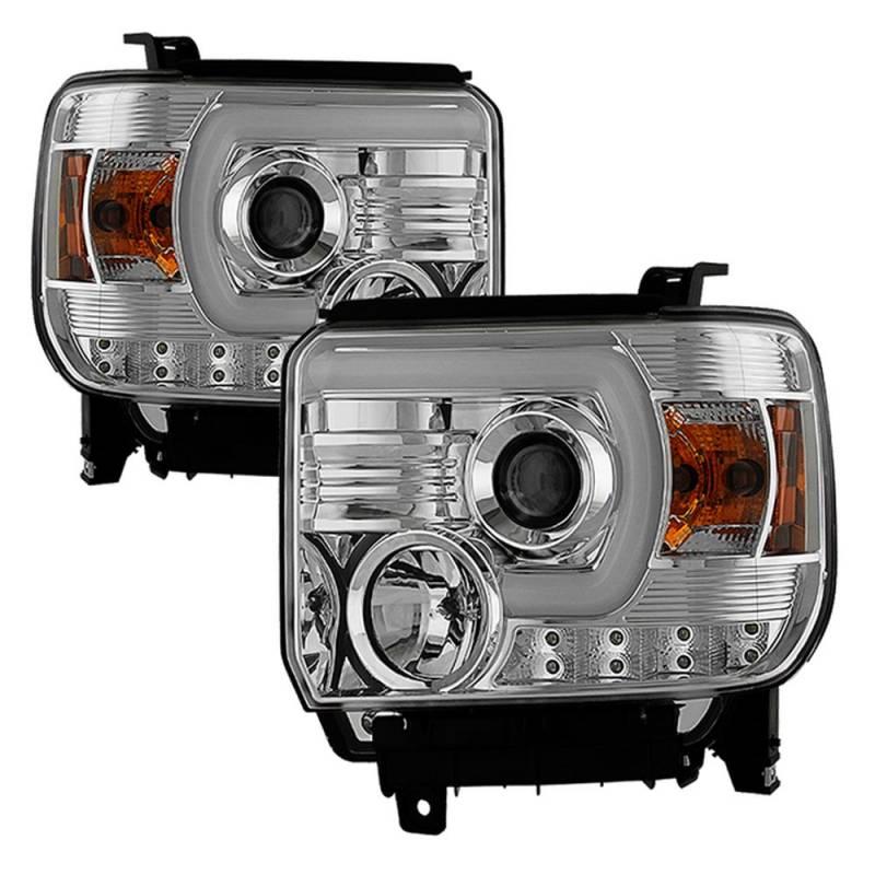 Morroto S2 Led Hd Projector 3500 Lumens Beamer 1280 800: Spyder Chrome U-Bar Projector LED Headlights