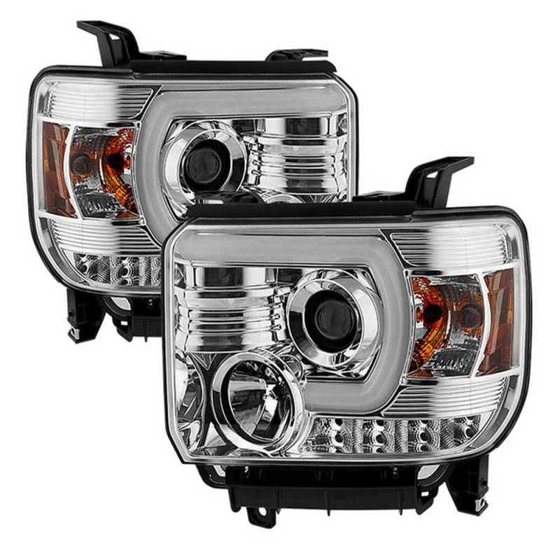 spyder chrome u bar projector led headlights 2014 2015. Black Bedroom Furniture Sets. Home Design Ideas