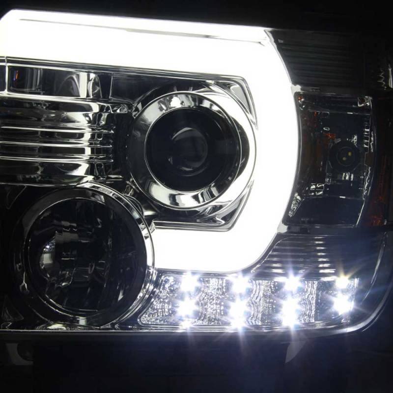 Spyder Chrome U Bar Projector Led Headlights 2014 2015