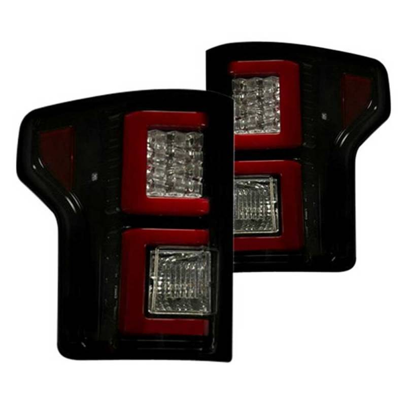 recon smoked led tail lights 2015 2017 ford f150 dale. Black Bedroom Furniture Sets. Home Design Ideas