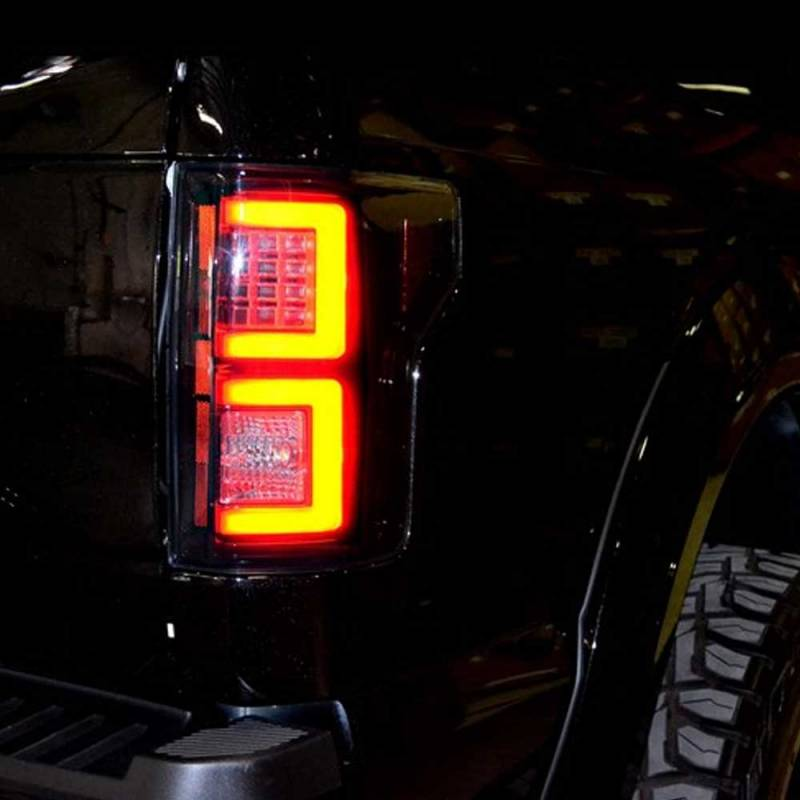 F150 Tail Lights >> RECON Smoked LED Tail Lights | 2015-2017 Ford F150 | Dale's Super Store