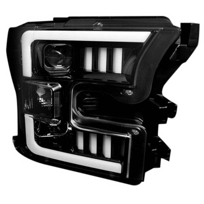Recon Smoked Black Projector Led Headlights For   Ford F  W Oem Halogen Headlights Dales Super Store