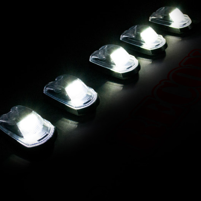 Recon Clear Led Cab Roof Lights W  White Led U0026 39 S