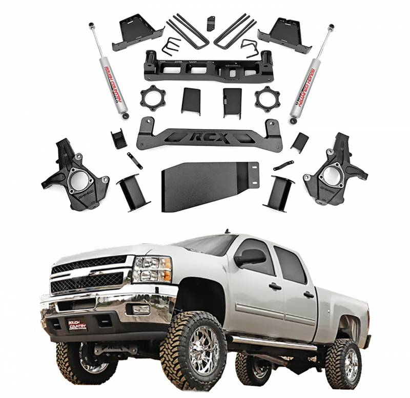 Rough Country 6 In Suspension Lift Kit for 2007-2013 GM ...