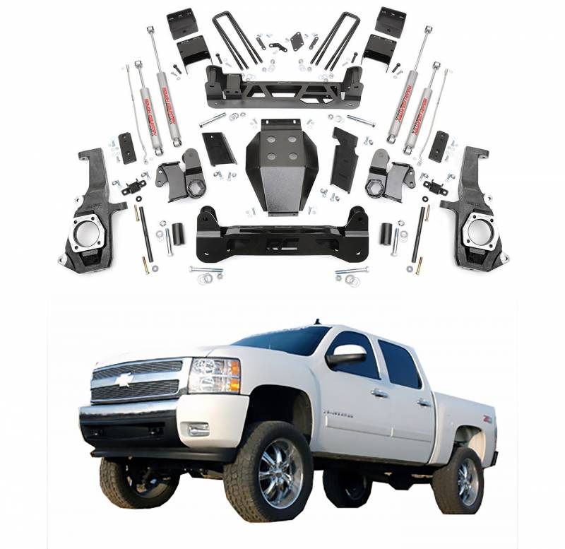 Best Lift Kit For Chevy 2500hd >> Rough Country 7 5 In Non Torsion Drop Suspension Lift Kit