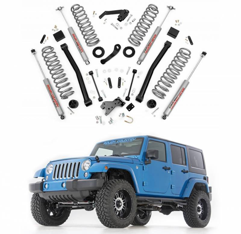 Rough Country 5 Inch Suspension Lift Kit: Rough Country 3.5 In Suspension Lift Kit For 2007-2017