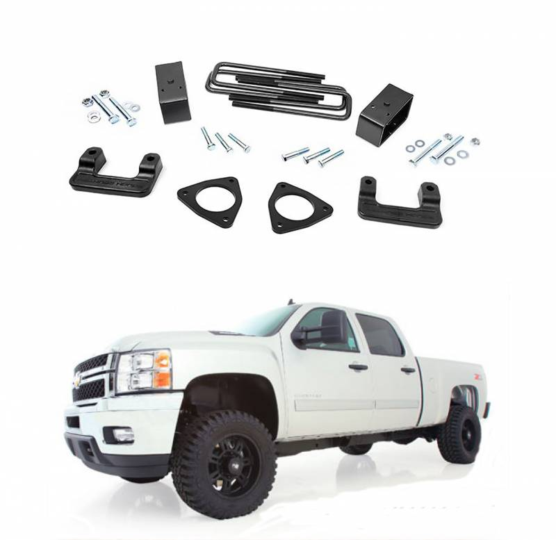 Rough Country 2 5 In Leveling Lift Kit 2007 2018 Gm 1500