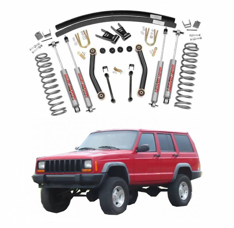 Rough Country   Rough Country 4.5 In Suspension Lift Kit For 1984 2001 Jeep  Cherokee