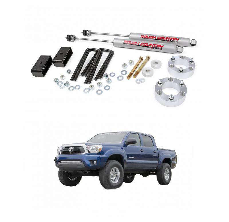 Rough Country 3 In Suspension Lift Kit for 2005-2017 Toyota Tacoma