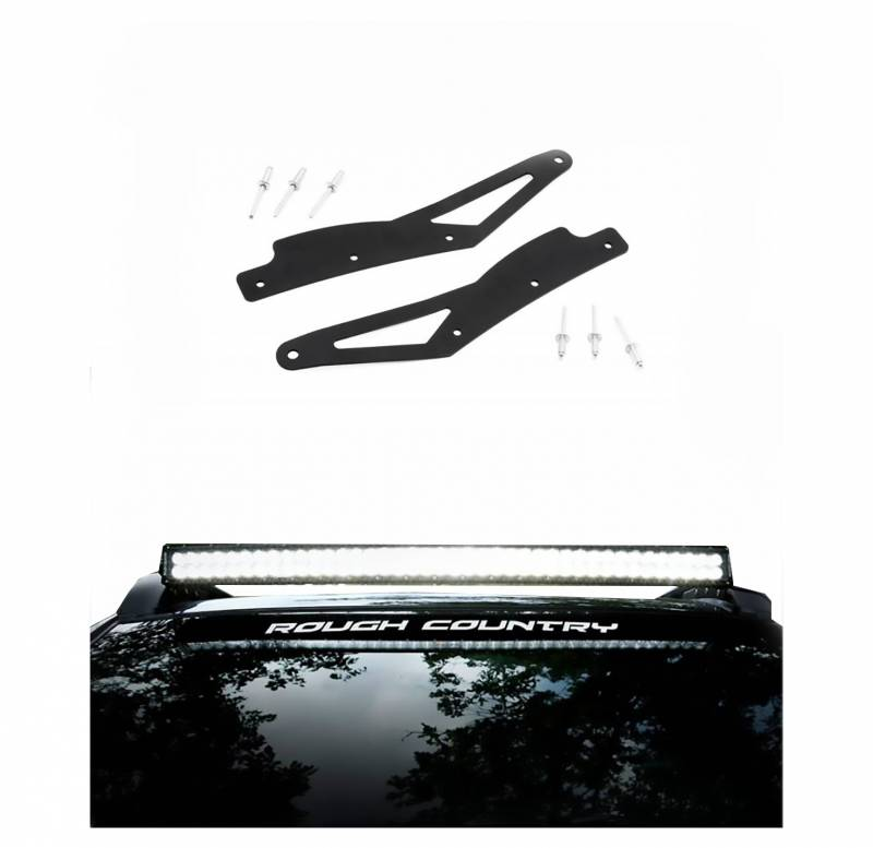 Rough country 40 inch curved led light bar roof rack mounts 2005 rough country rough country 40 inch curved led light bar roof rack mounts aloadofball Images