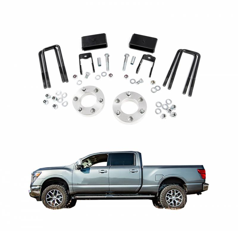rough country 2 in leveling lift kit for 2016 2018 nissan titan xd 4wd 868. Black Bedroom Furniture Sets. Home Design Ideas