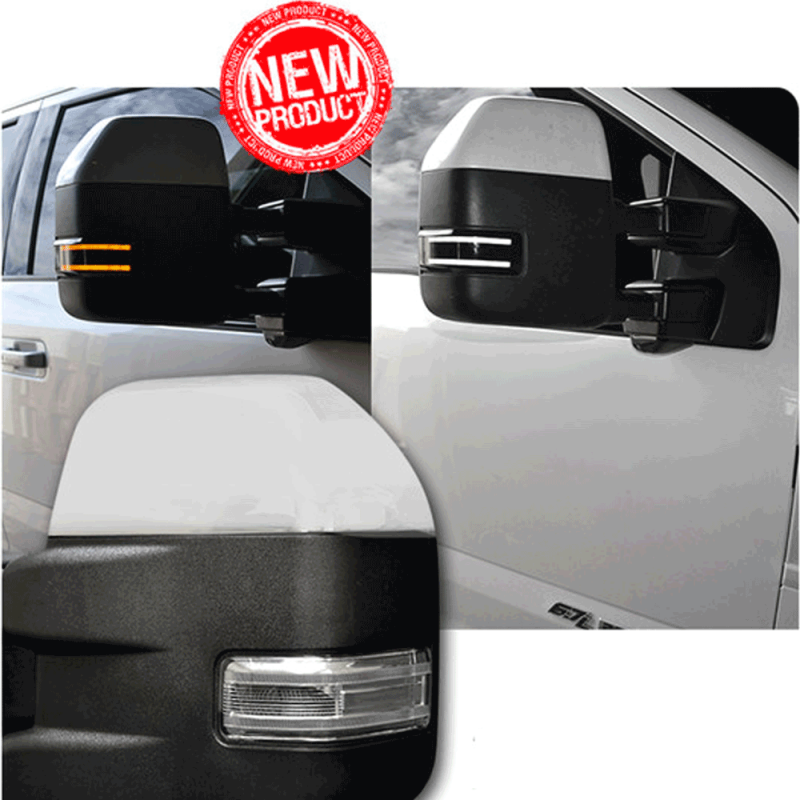 Recon Smoked Side Mirror Lenses W Amber Led Running Lights
