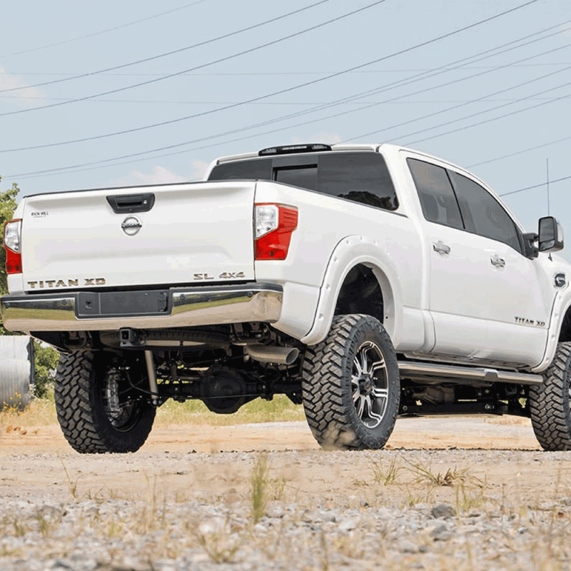 Lifted Titan Xd >> Rough Country 6 In Suspension Lift Kit for 2016-2017 Nissan Titan XD 4WD | Dale's Super Store