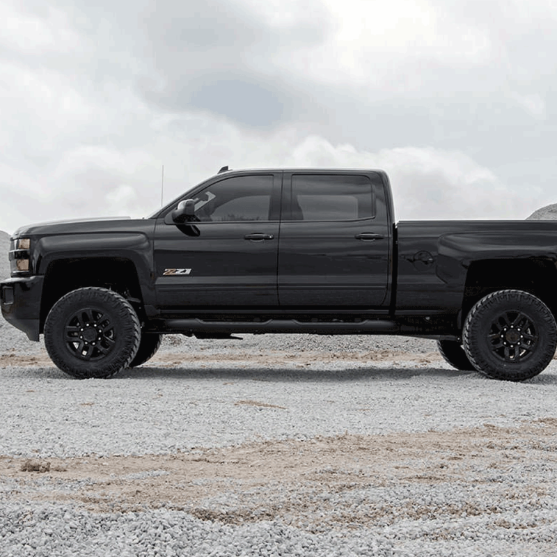 White Chevy Silverado >> Rough Country 3.5 In Bolt-On Suspension Lift Kit for 2011-2018 Sierra/Silverado 2500HD/3500HD ...