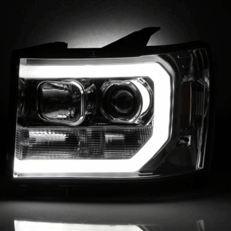 Spyder® Chrome DRL Bar Projector LED Headlights | 2007 ...